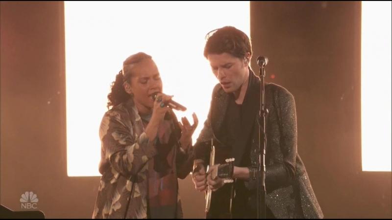 James Bay Alicia Keys - Us (Live at The Voice)