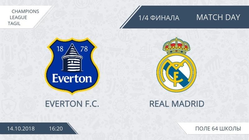 14.10.2018 Эвертон - Реал Мадрид (лучшие моменты)