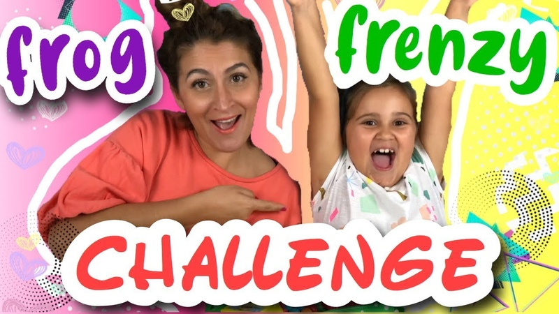 FROG FRENZY ChallengeTaisiya VS MummyTaisiya Toys Learning