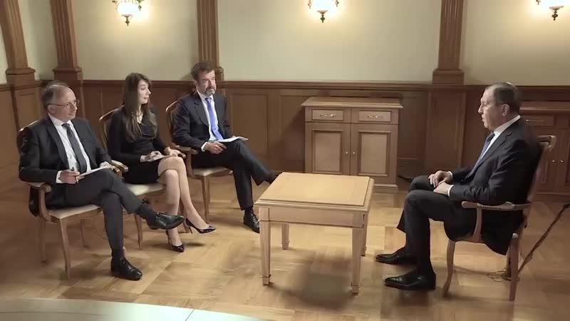 Глава МИД РФ Сергей Лавров интервью «RT France», «Paris Match» и «Le Figaro».
