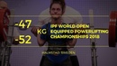 Women 47 52 kg World Open Equipped Powerlifting Championships 2018