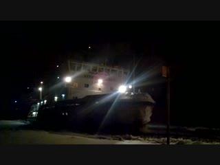 Соломбала. Пешеходная переправа на Хабарку, судно Капитан Чадаев. Архангельск, Поморье, река Северная Двина.