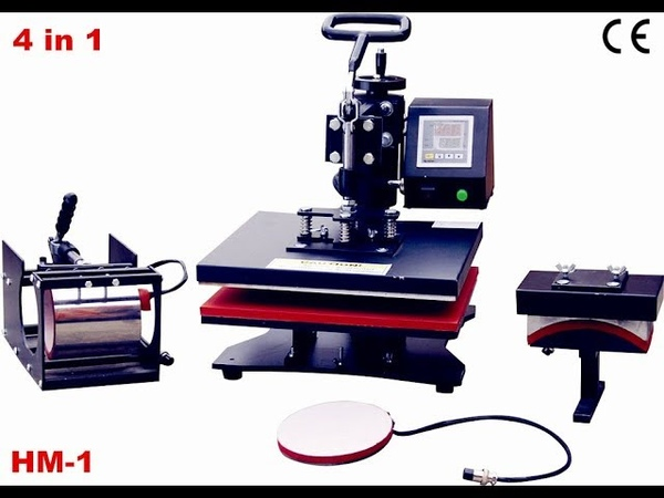 Print T-shirt Mug Cap Plate In 1 Printer Heat Transfer Press Technology 4 In 1 HM-1