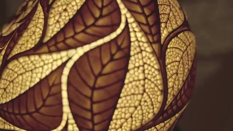 Making Of Handcrafted Table Lamp Eschers Leaves by Calabarte 2