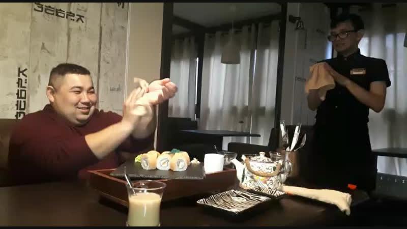 Ритуал перед поеданием суши