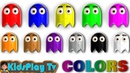 PAC MAN Ghost Names and Learning Colors - Kids Play Tv