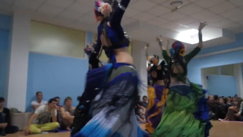 Орион, трайбл импровизация (современный восточный танец) @ выступление на этно-вечере 21.12.2014