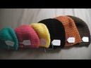 Gorro simple a crochet en punto alto diferentes tallas