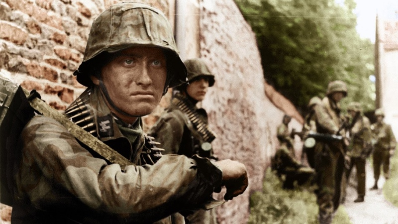 WW2 Waffen SS Combat footage (In Colour)
