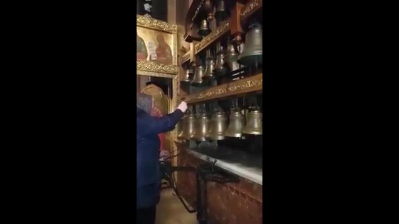 Колокольный звон на звоннице в храме свв Бориса и Глеба 360 X 202 mp4