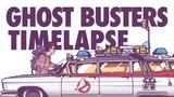 Ghostbusters car time lapse in Adobe Illustrator!