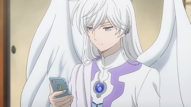 Today's angels know how to use smartphones too~