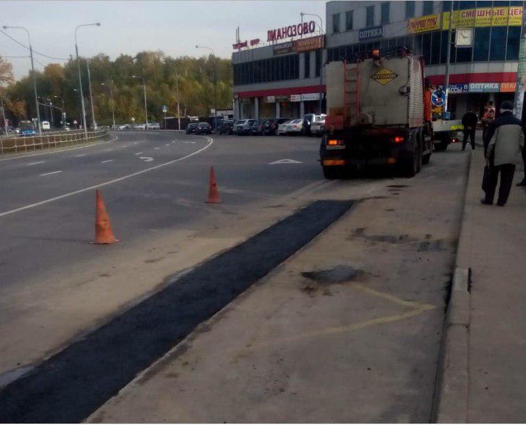 Асфальт отремонтировали на участке Лианозовского проезда