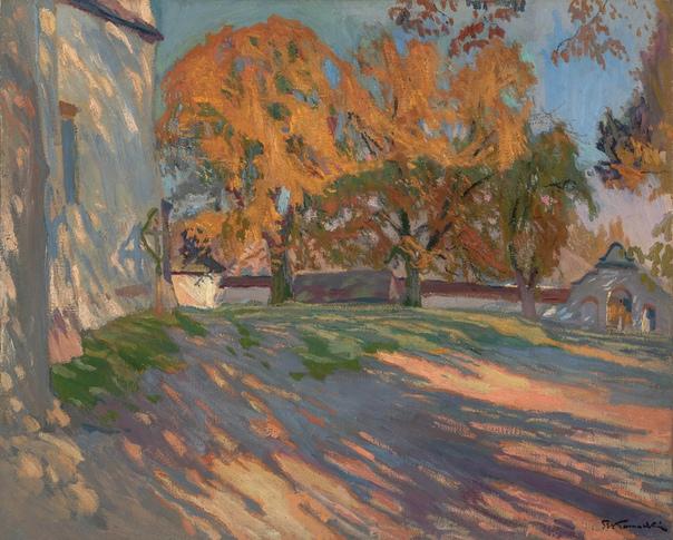 Осенний пейзаж. Stanisław amoci (Polish, 1875 - 1944)