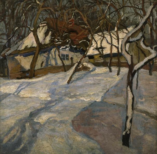 Зима. 1910, 71,1 х 72,3 см Stanisław amoci (Polish, 1875 - 1944)