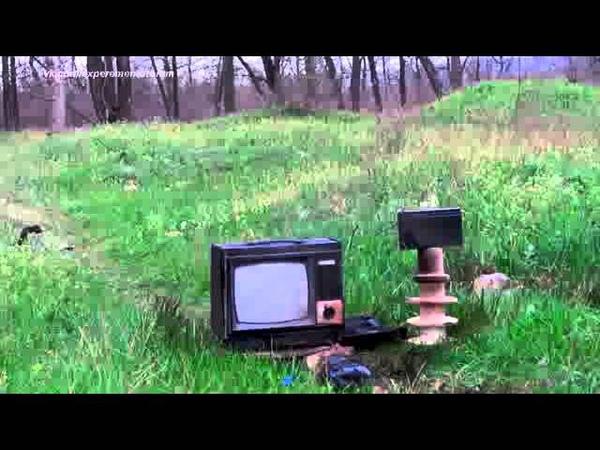 Молния ударила в телевизор! Жесть Поймали грозу змеем