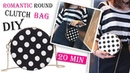 DIY CUTE DOTS ROUND PURSE BAG Crossbody Bag Tutorial No Sew