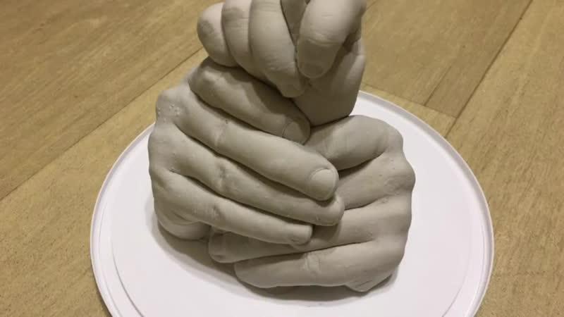 как сделать руки из гипса набор 3D Isculp позволяет создать точные копии рук (1).mp4