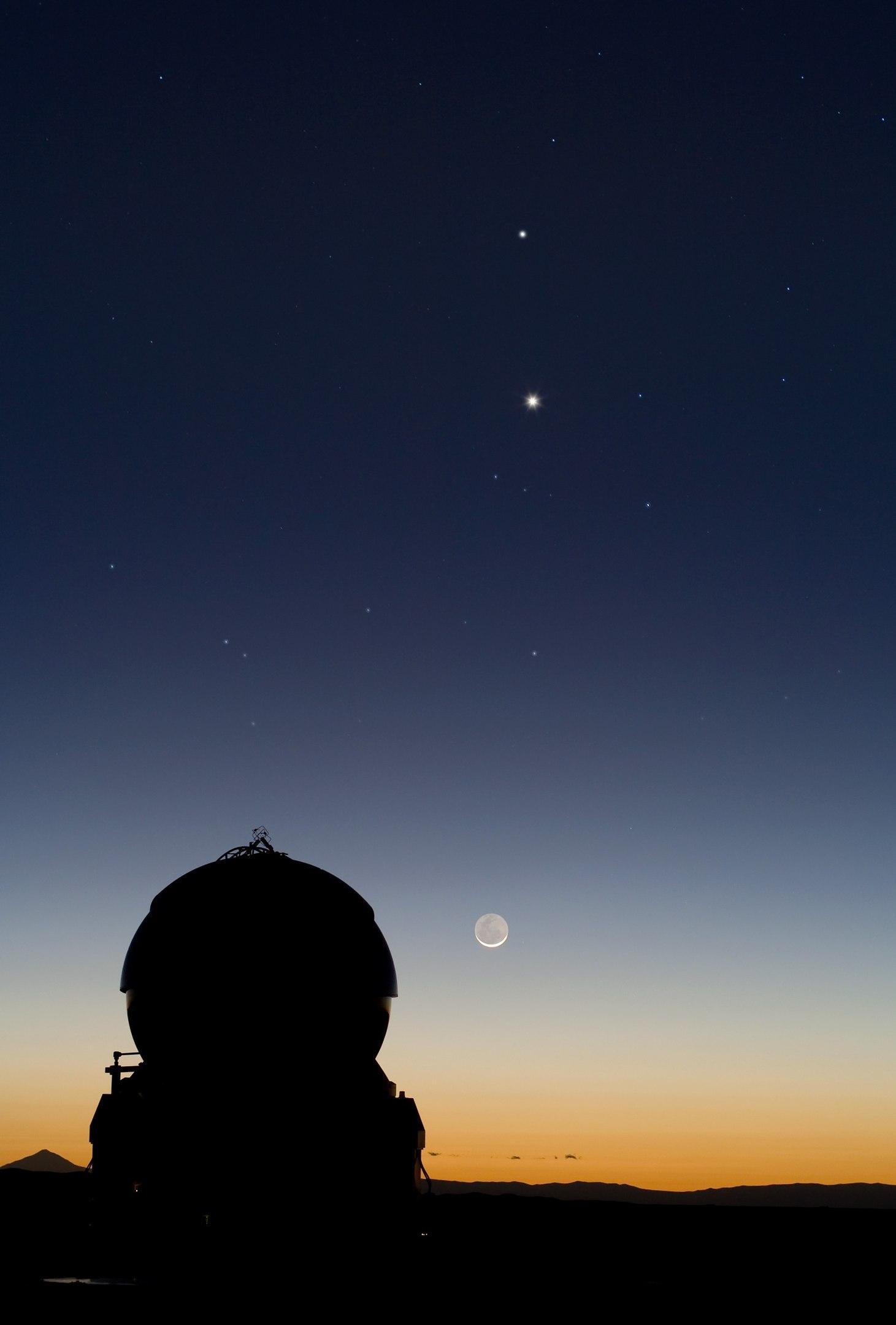 Меркурий на звёздном небе