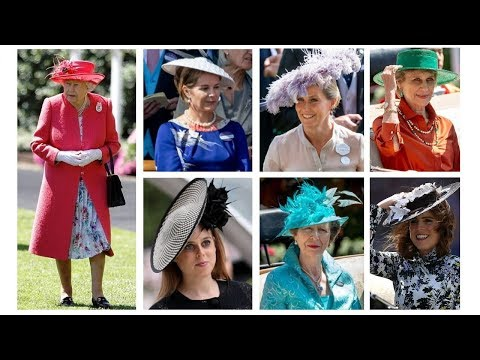 LADIES DAY Sophie, Anne, Beatrice and Eugenie joined QUEEN ELIZABETH at ROYAL ASCOT DAY 3