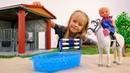 Игрушки для детей - Штеффи катается на лошадке - Видео для девочек
