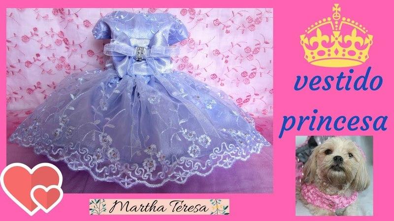 Vestido Estilo Princesa para tu Perrita talla 0 - Molde y Confección.