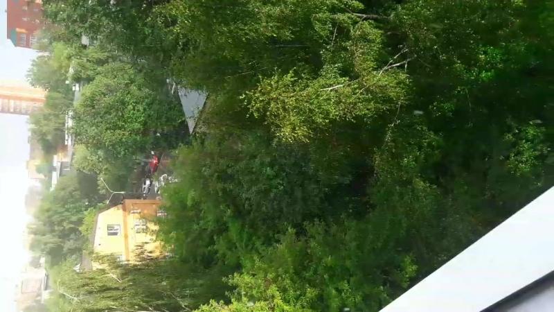 Если вы приглядитесь, то в центре кадра увидите, как радуга заходит в гости в наш подвал😁👍 красотища радуга 🌈 двойнаярадуга