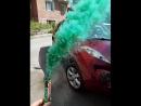 Цветной дым зелёный