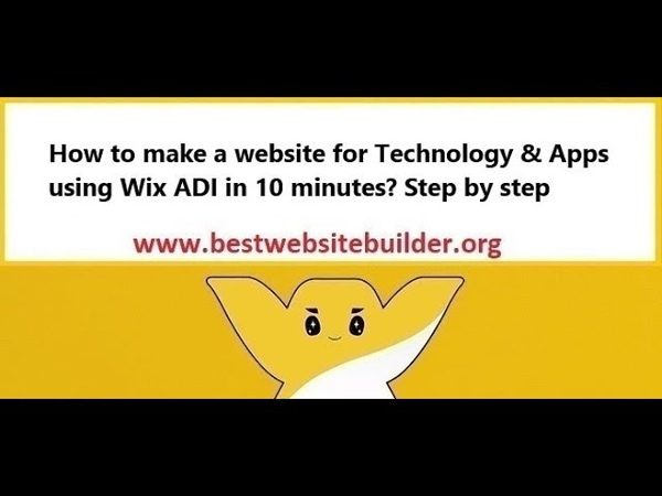 How to make a website for Technology Apps using Wix ADI in 10 minutes? Step by step