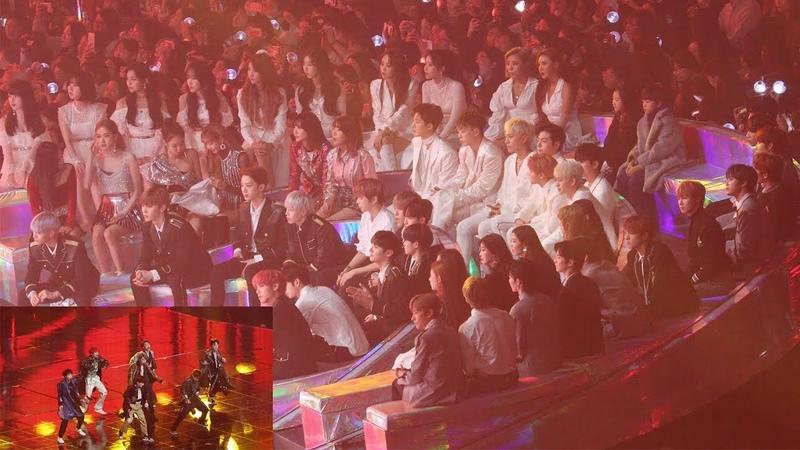 181201 IDOLS Reaction to BTS IDOL (방탄소년단 무대 보는 블랙핑크,워너원,여자친구,마마무,아이콘,여자아이들,더보이즈) 4K 직캠 by 비몽