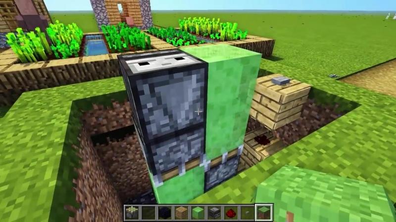 ЕвгенБро Майнкрафт Как построить ЛУЧШИЙ ЛИФТ в Minecraft 100% защита от нуб троллинг постройка ДОМ Нуба