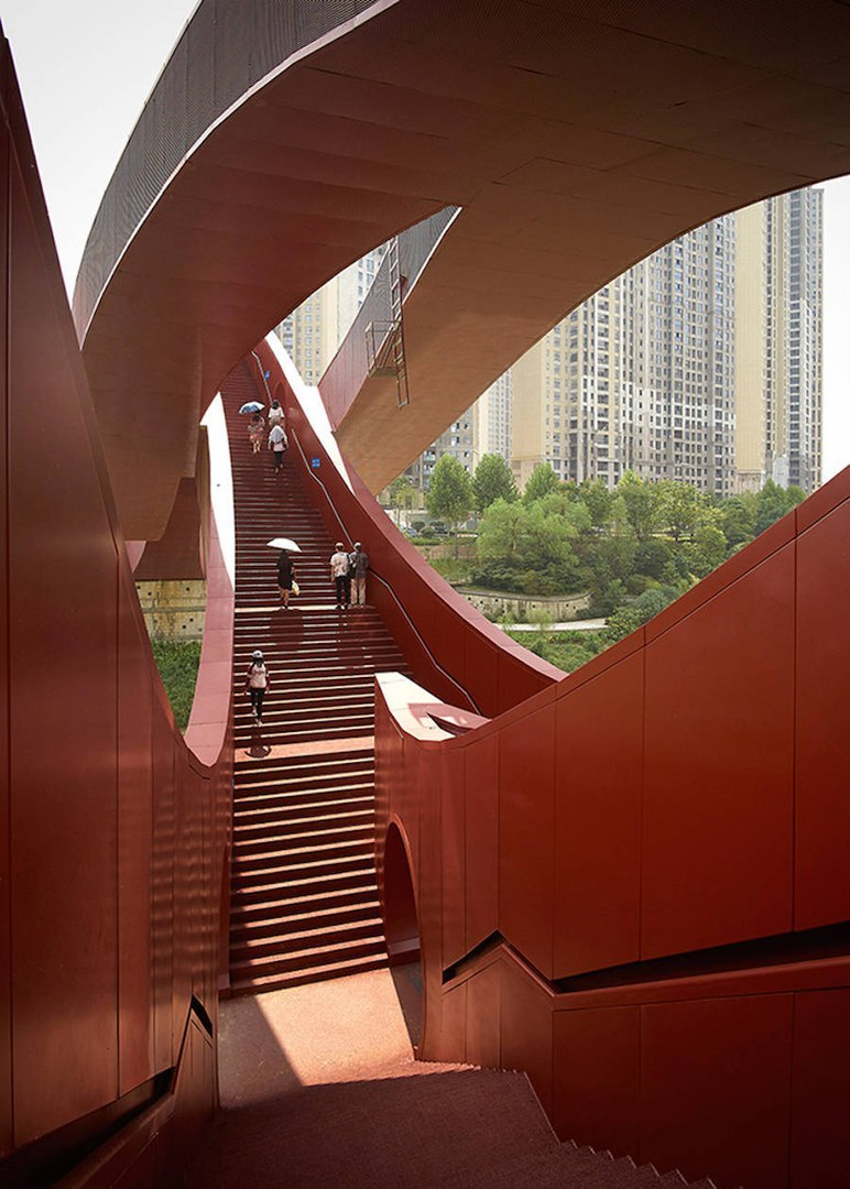 Playful Architectural Bridge in China