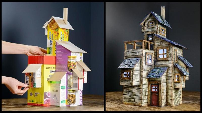 ❣DIY Old Farmhouse Using Cardboard Boxes❣