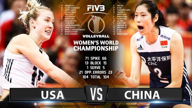 China vs USA - (Highlights) 14 Oct. 2018 | Womens World Championship 2018