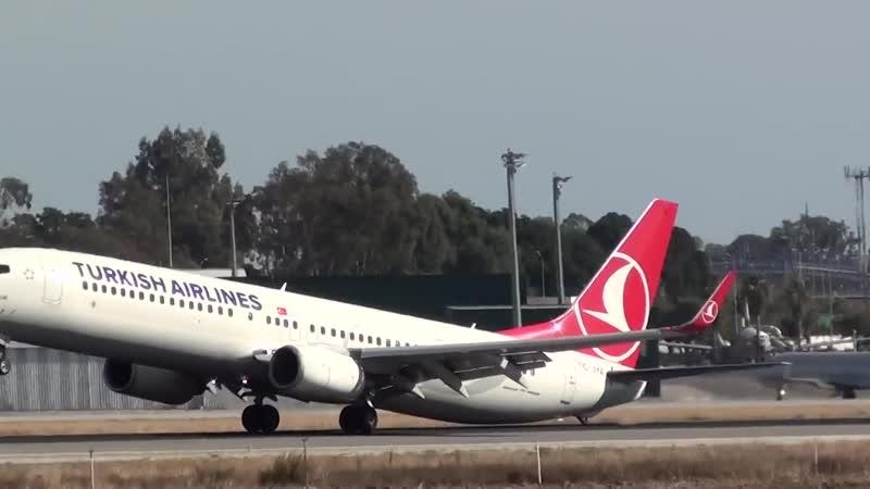 Incredible Tail Strike and Go Around Turkish Boeing 737-900 TC-JYA at Malaga AGP