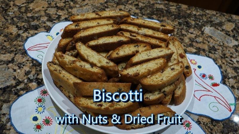 Italian Grandma Makes Biscotti with Nuts Dried Fruit