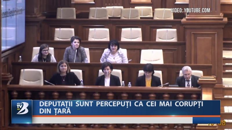 DEPUTAȚII SUNT PERCEPUȚI CA CEI MAI CORUPȚI DIN ȚARĂ