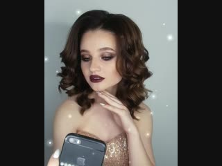 Сливовый макияж. Yulia Ustinovich