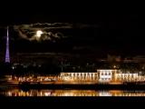 Пермь. Восход Луны