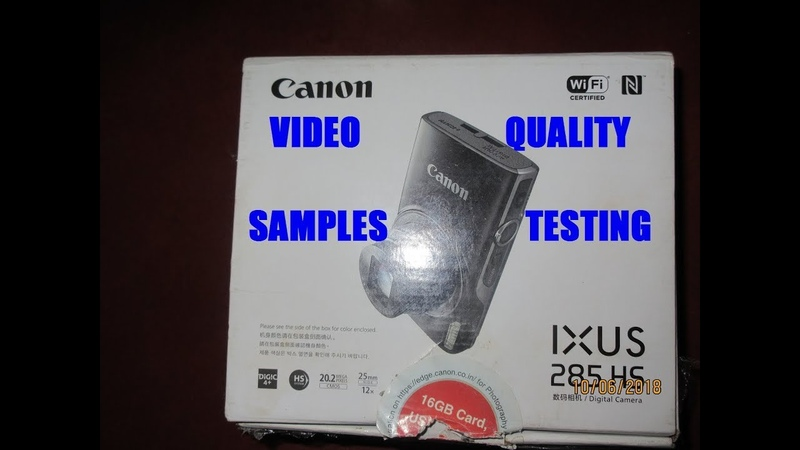 2018 Popular Low Budget Travel Camera India Canon 285 HS Video Test ELPH 360 HS Photo Samples