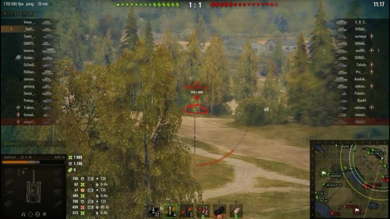 World of Tanks АМХ 30 Малиновка