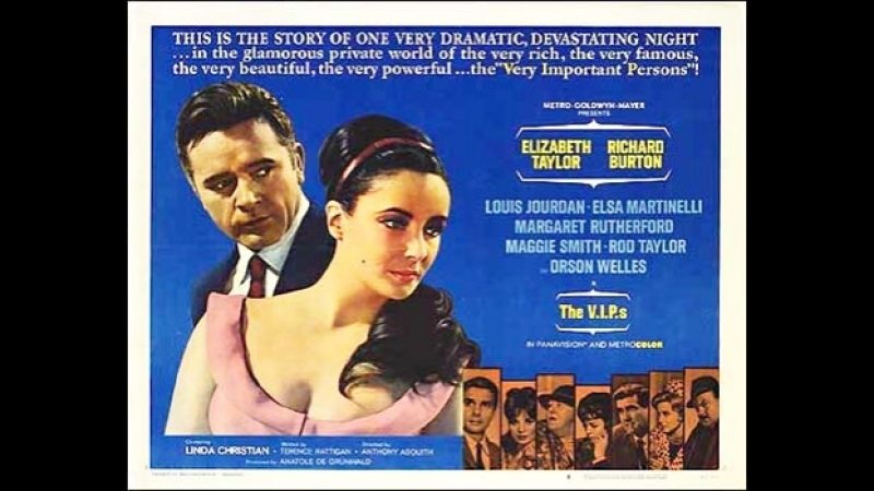 The V.I.P.s (1963) Elizabeth Taylor, Richard Burton, Louis Jourdan