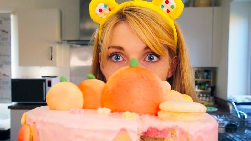 Baking a Macaron Pumpkin Cake