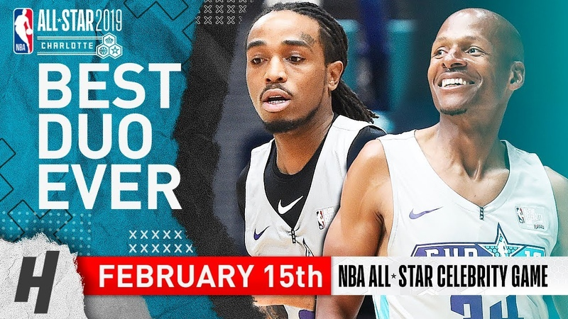 Migos Quavo Ray Allen Full Highlights at 2019 All-Star Celebrity Game - 51 Pts Total