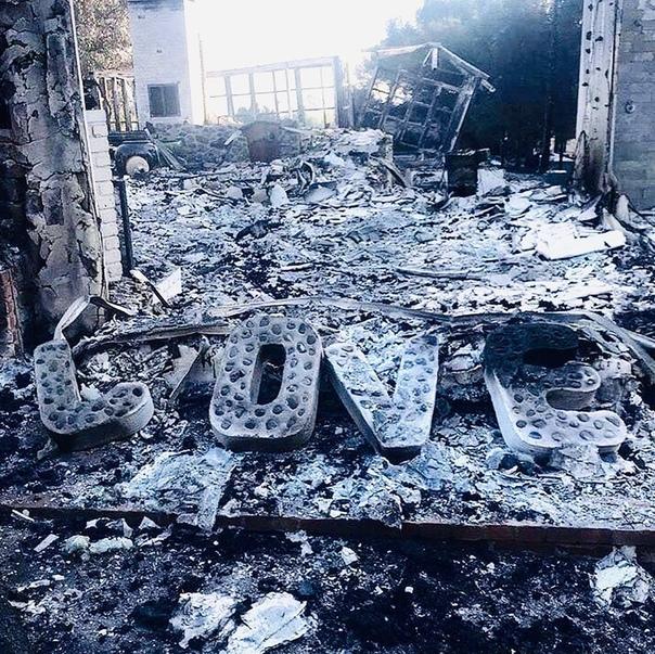Лиам Хемсворт показал фото сгоревшего дома
