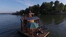 Coolest floating sauna! With solar power