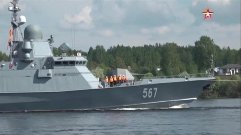 В Петербурге спустят на воду новейший ракетный корабль Буря