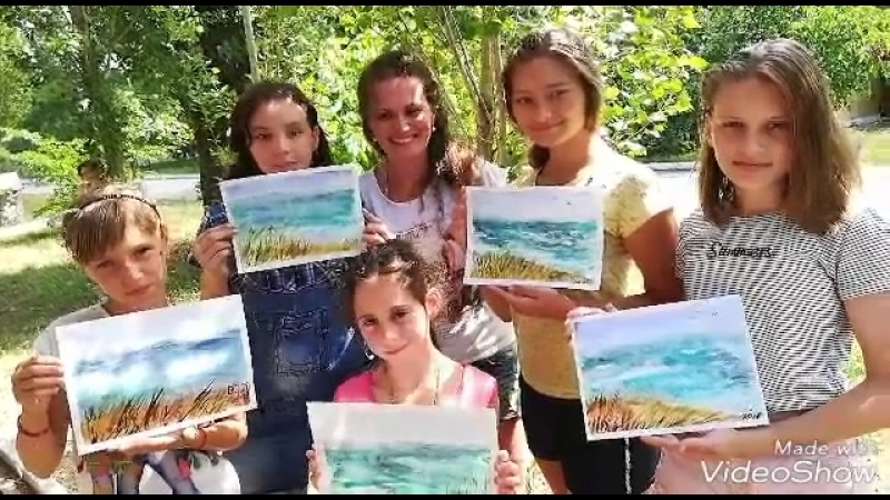 МК акварелью в Каролина-Бугаз 2018г