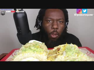 [good eating asmr] asmr: eating tacos mukbang no talking *extreme crunchy eating sounds*