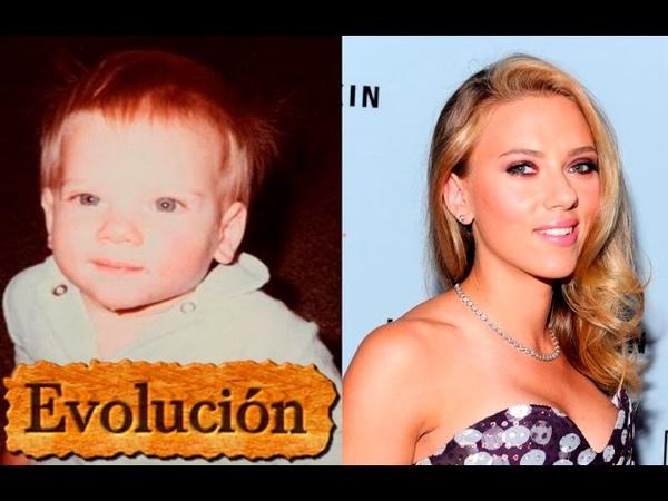 Como Scarlett Johansson ha cambiado - Evolución de 1 a 32 años.